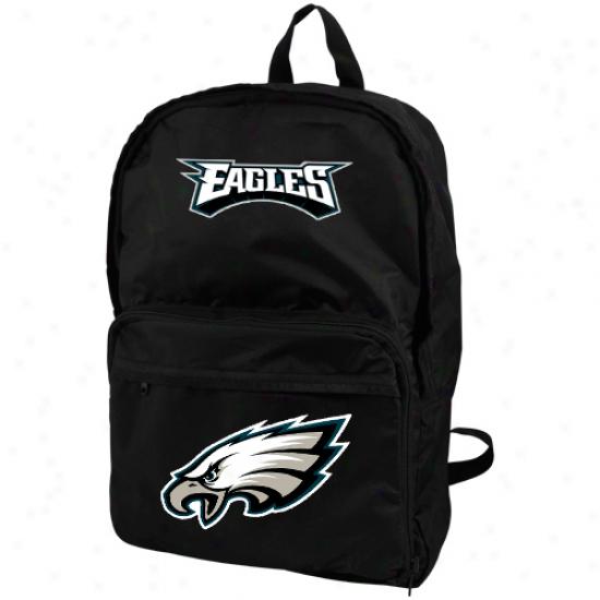 Philadelphia Eagles Black Foldaway Backpack