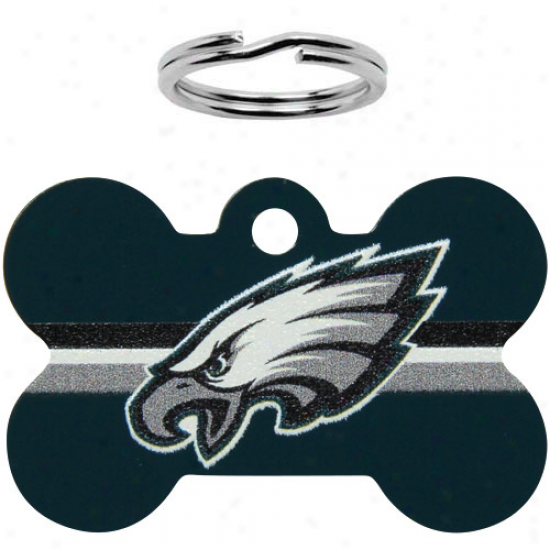 Philadelphia Eagles Bone Engravable Pet Id Tag