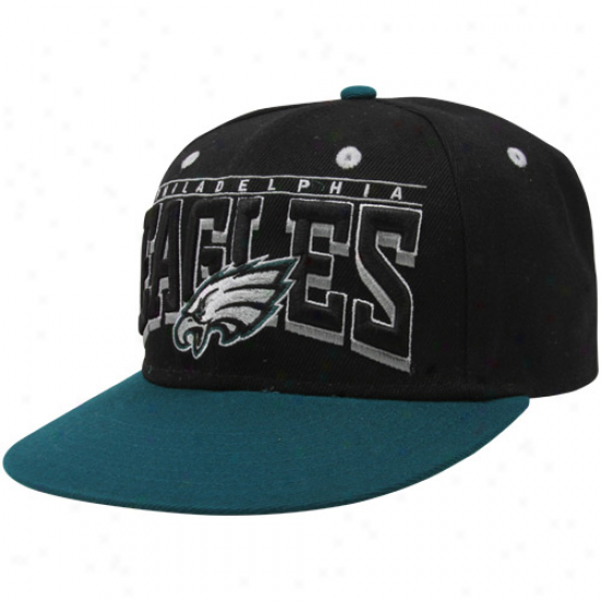 Philadelphia Eagles Hardknock Snapback Hat - Black