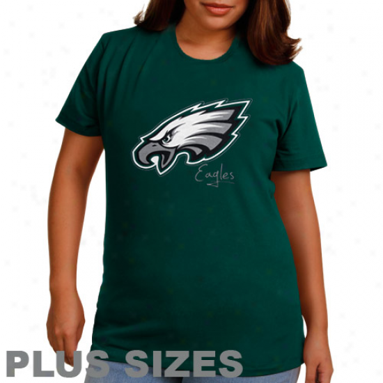 Philadelphia Eagles Ladies Game Tradition Ii Plus Size T-shirt - Midnight Green