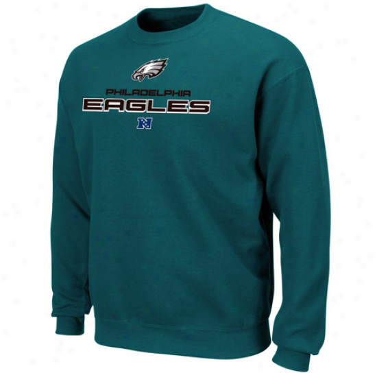 Philadelphia Eagles Midnight Green Classic Heavyweight Iii Pullover Crew Sweatshirt