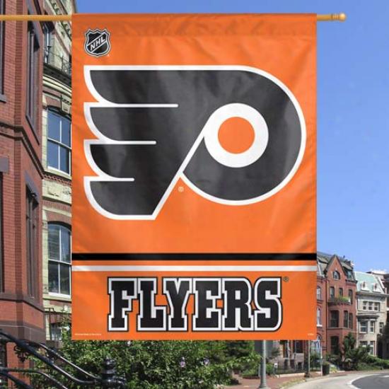Philadelphia Flyers 27'' X 37'' Orange Vertical Banner Flag