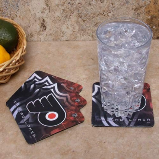 Philadelphia Flyers 4-pack Sublimated Logo Neoprene Coaster Set
