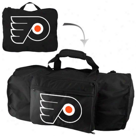 Philadelphia Flyers Black Fold-away Duffel Travel Pack