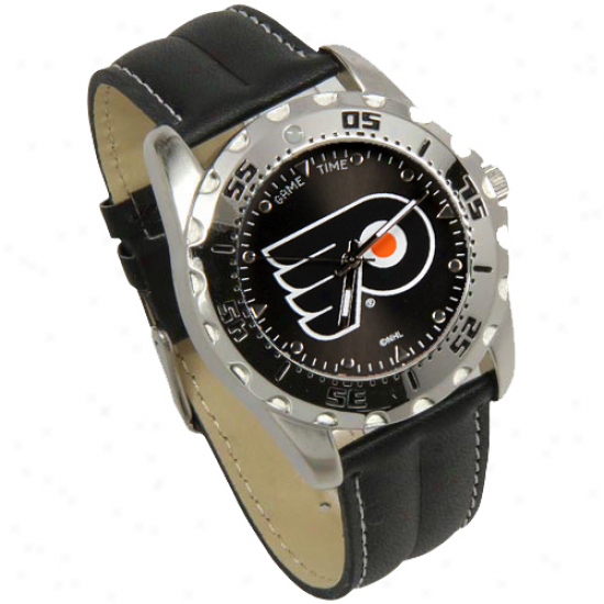 Philadelphi aFlyers Game Time Leather Watch - Black