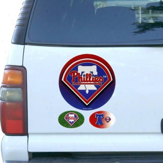 Philadelphia Phillies 3-pack Magnet S3t -