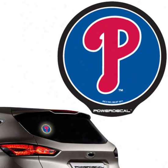 Piladelphia Phillies Backlit Ldd Motion Sensing Powerdecal