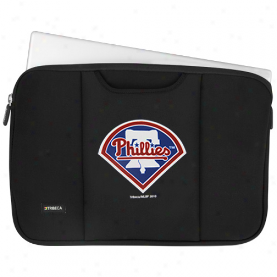 Philadelphia Phillies Black 15'' Laptop Breathe Sleeve