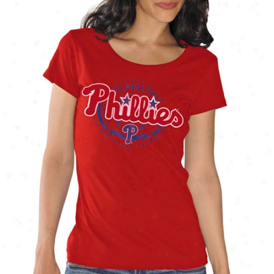 Philadelphia Phillies Ladies Double Play T-shirt - Red