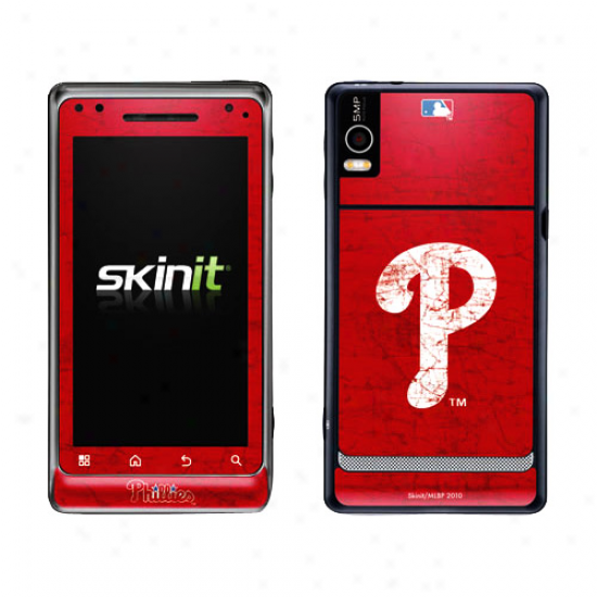 Philadelphia Phillies Red Droid 2 Distressed Skin
