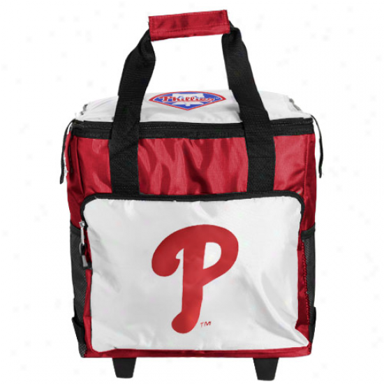 Philadelphia Phillies Red-white Rolling Collapsible Cooler