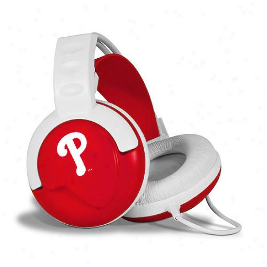 Philadelphia Pjillies White-red Fan Jams Over-ear Headphones