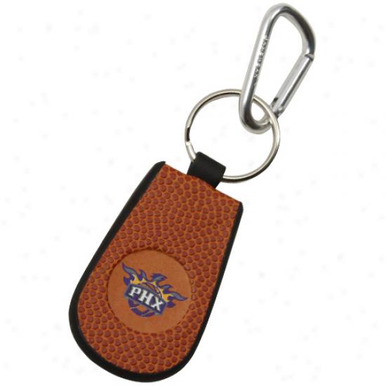 Phoenix Suns Basketball Leather Keychain