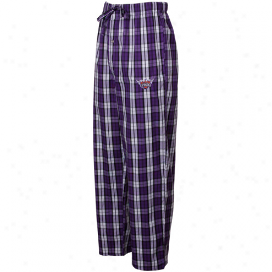 Phoenix Suns Purple Plaid Historic Pajama Pants