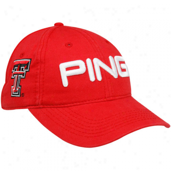 Ping Texas Tech Red Raiders Scarlet Chino Adjustable Hat