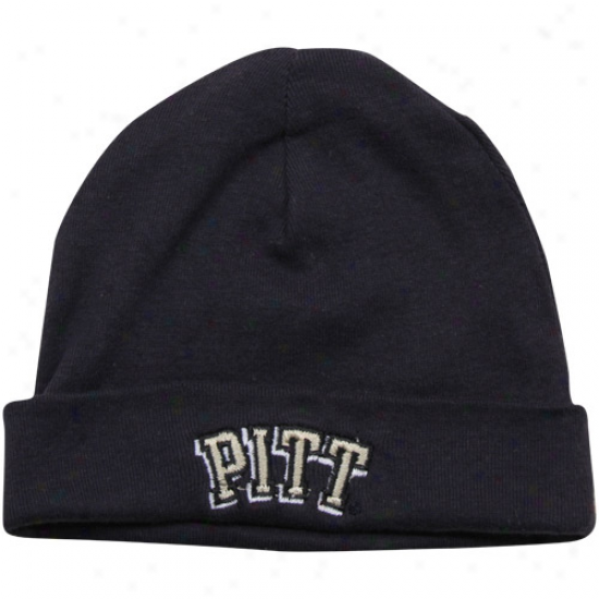 Pittsburgh Panthers Infant Navy Blue Solid Ski-knit Beanie