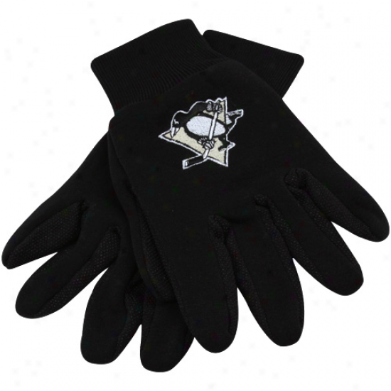 Pittsburgh Penguins Black Team Work Gloves