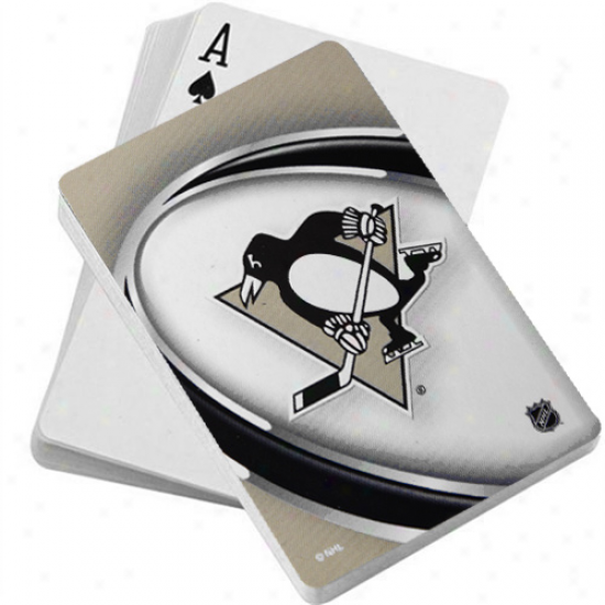 Pittsburgh Penguins Vortex Playing Cards
