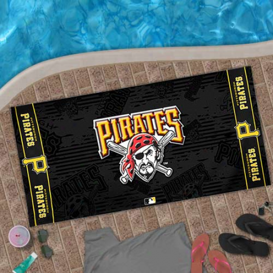 Pittsburgh Pirates 30'' X 60'' Black Beach Towel