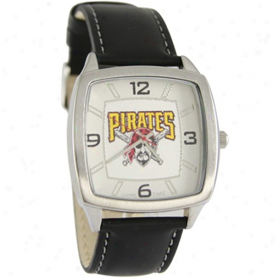 iPttsburgh Pirates Retro Watch W/ Leather Band