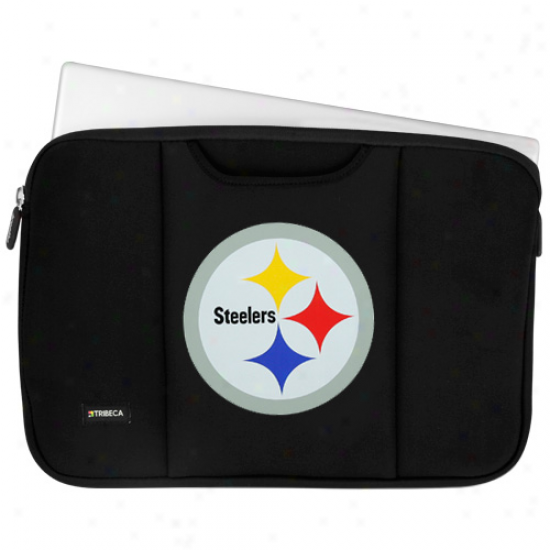 """pittsburgh Steelers 13"""" Black Laptop Sleeve"""