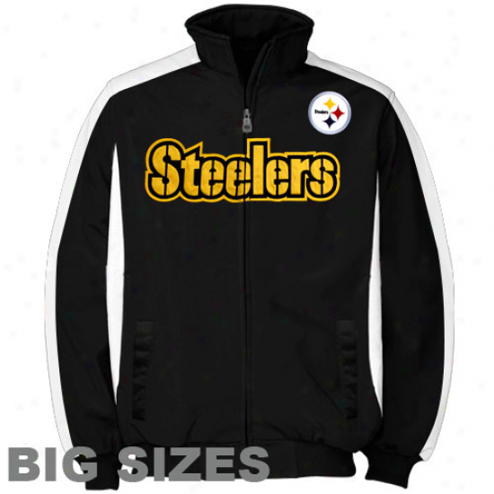 Pittsburgh Steelers Black Big Sizes Full Zip Track Jacket