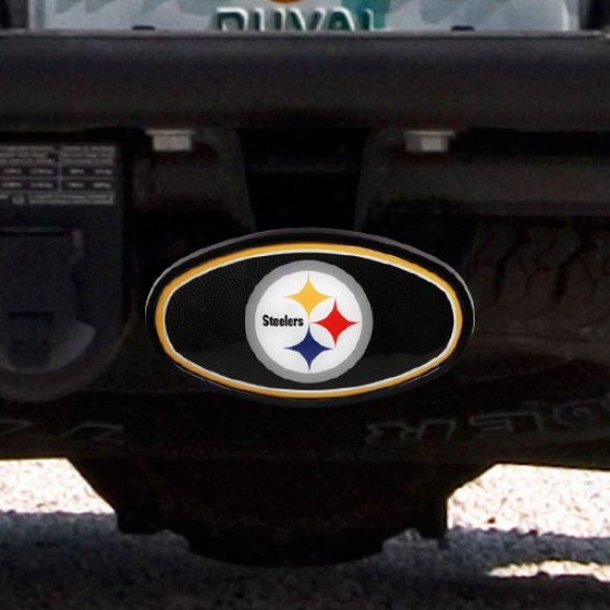 Pittsburgh Steelers Domed Logo Plastic Hitch Cover