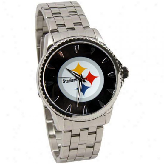Pittsburgh Steelers Manager Stainless Stesl Watch