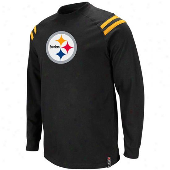 Pittsburgh Steelers Victory Pride Iii Premiim Long Sleeve T-shirt - Black