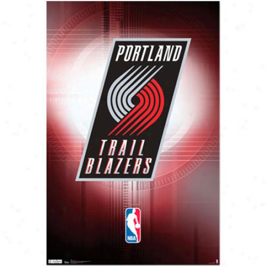 Portland Trail Blazers 22'' X 34'' Logo Poster