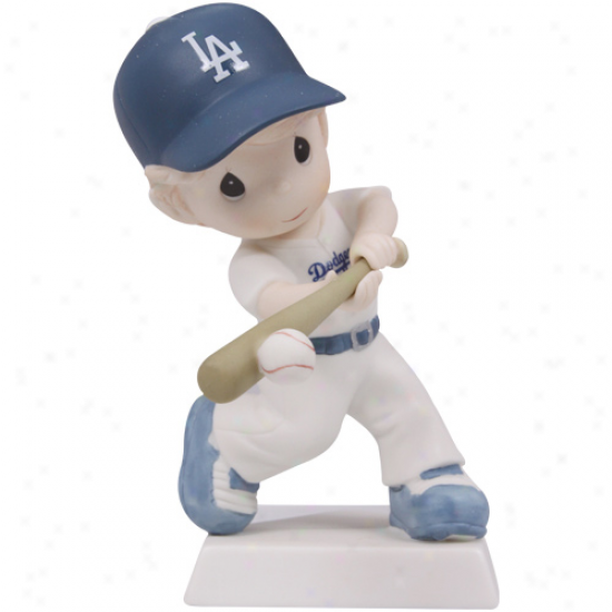 Precious Moments L.a. Dodgers Boy Swing For The Fence Figurine