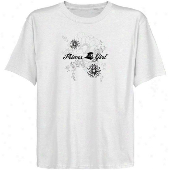 Providence Friars Youth Whiite Floral Bloom T-shirt