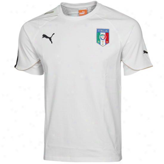 Puma Italy Jersey Premium T-shirt - Pure