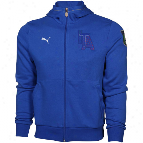 Puma Italy Royal Blue Full Zip Hoodie Jacket
