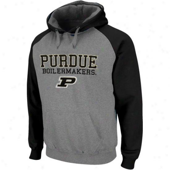Putdue Boilermakers Ash-black Atlas Pullover Hoodie Sweatshirt