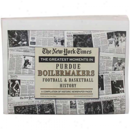 Purdue Boilermakers Greatest Moments Newspapers