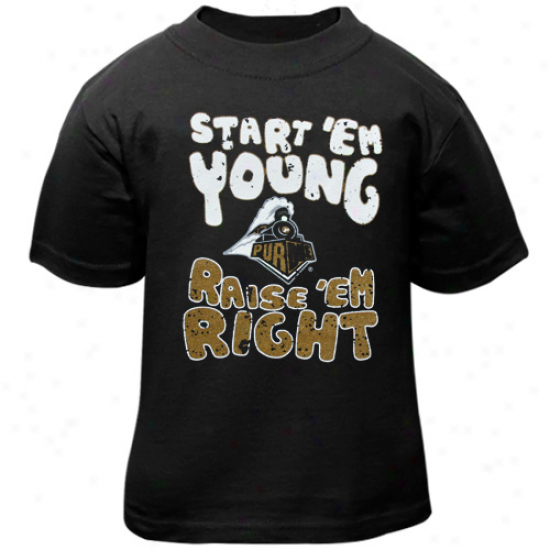 Purdue Boilermakers Toddler Start 'eem Young T-shirt - Black