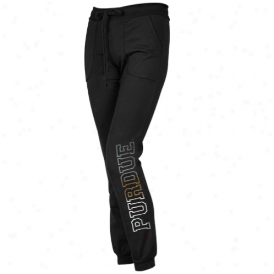 Purdue Boilermakers Womens Name Fade Lounge Pants - Black