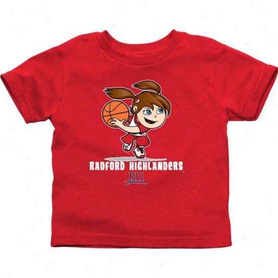 Radford Highlanders Infant Girls Basketball T-shirt - Red