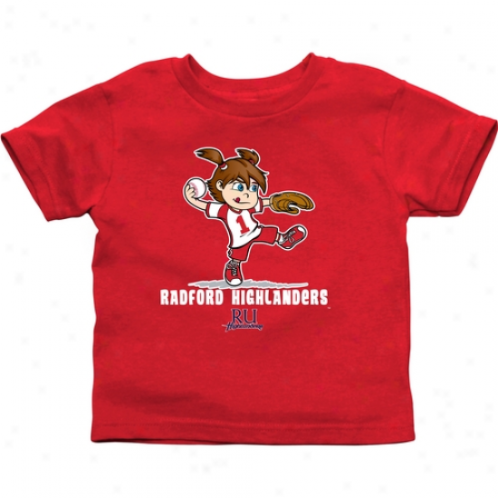 Radford Highlanders Infant Girls Softball T-shirt - Red