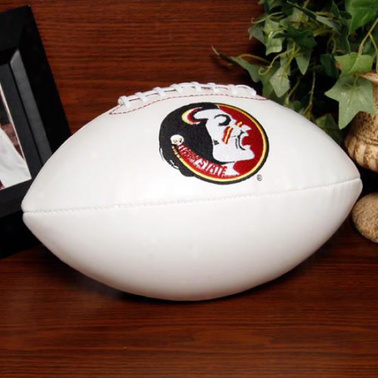 Rawlings Florida State Seminoles (fsu) White Signature Series Full-size Football