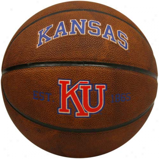 Rawlings Kansas Jayhawks Vault Full-size Basketball
