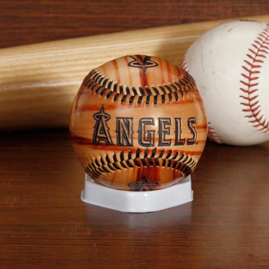 Rawlings Los Angeles Angels Of Anaheim Woodgrain Collectible Basebal