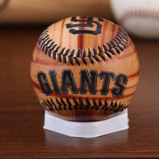 Rawlings San Francisco Giants Woodgrain Collectible Baseball