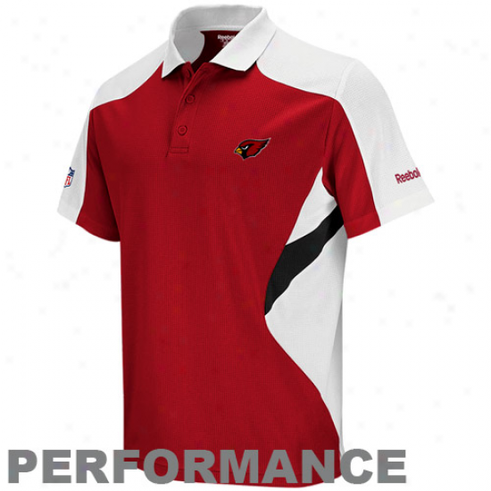 Reebok Arizona Cardinals Red Sideline Standout Performance Polo