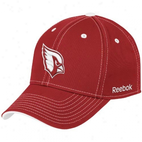 Reebok Arizona Cardinals Red Tonal Team Logo Flex Hat