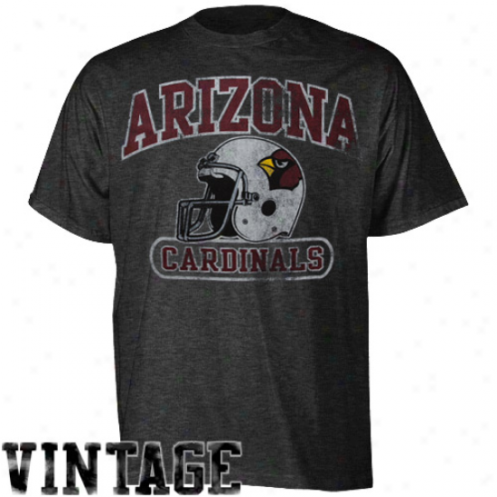 Reebok Arizona Cardinals Showboat Heathered T-shirt - Black
