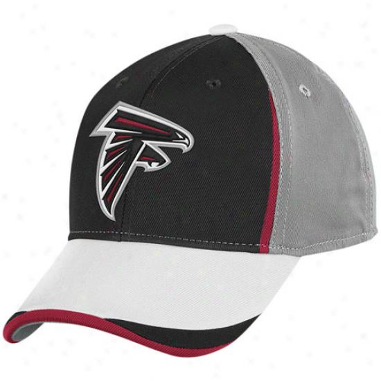 Reebok Atlanta Falcons Black-gray Gridiron Structured Flex Hat