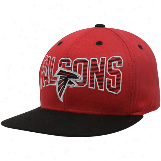 Reebok Atlanta Falcons Red-black Two-tone Striped Snapback Adjstable Hat