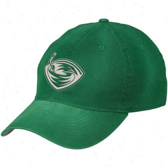 Reebok Atlanta Thrashers Kelly Green St. Patrick's Day Slouch Flex Hat